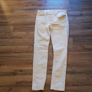 H&M New w/tags Cream Skinny Jeans 31/32